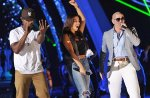 "Ne-Yo, Nayer, and Pitbull rehearsing ""Give Me Everything"""