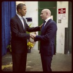 President Obama and Pitbull (entertainer) (rapper)