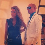 Sophia del Carmen and Pitbull